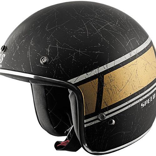 Restomod black/gold helmet