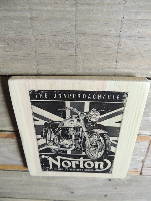Norton Motorcycle black & white advertisement