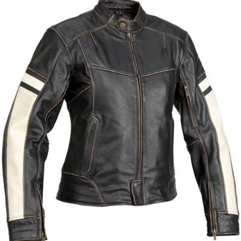 Women Dame's jacket vintage leather jacket