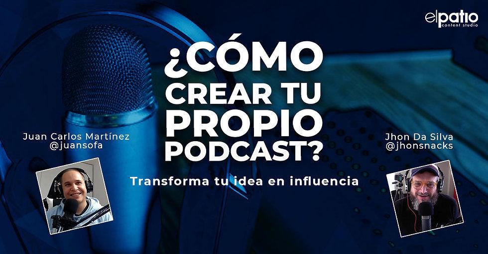 Taller en línea de 6 horas de ¿Cómo crear tu propio podcast?