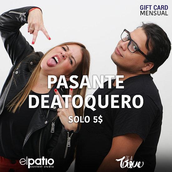 Pasante Deatoquero - Mensual