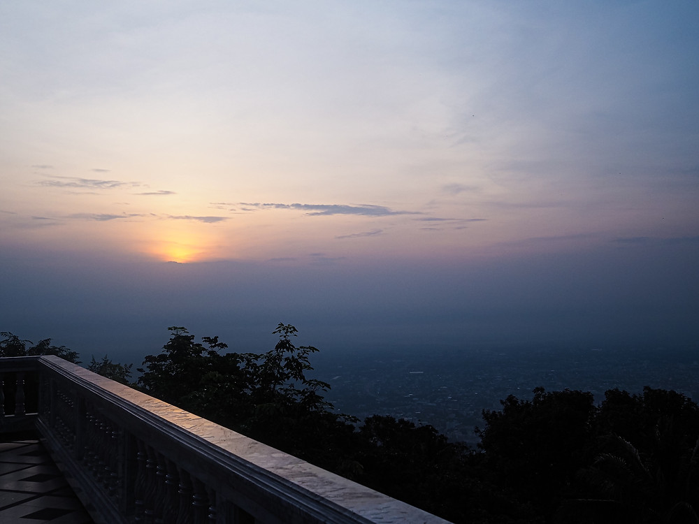 Sunrise over Chiang Mai, viewed from Wat Phra That Doi Suthep