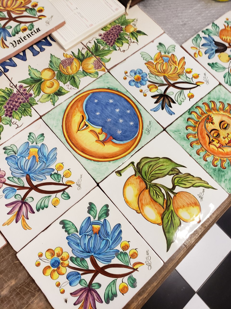 Traditional hand-painted ceramics in Valencia
