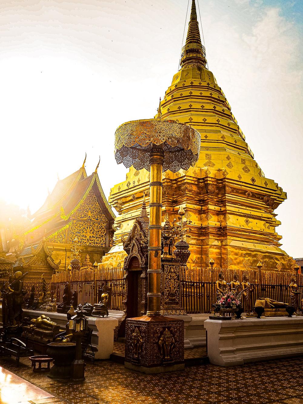 Wat Phrathat Doi Suthep, a Buddhist Temple in Chiang Mai, Thailand
