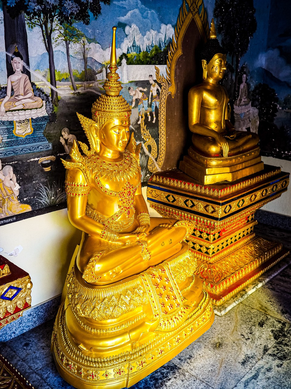 A golden Buddha at Wat Phra That Doi Suthep, Chiang Mai, Thailand