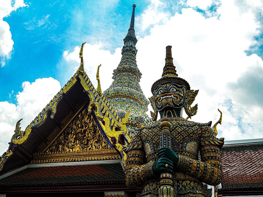Guardian Statue at the Grand Palace, Bangkok, Thailand