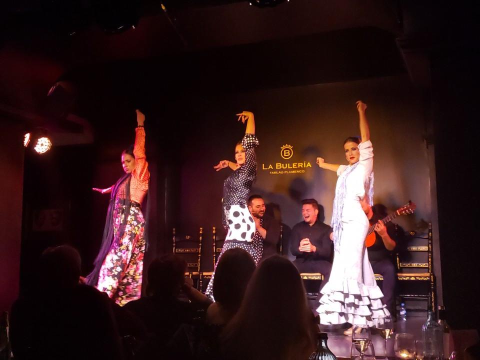 Flamenco dancers at La Buleria