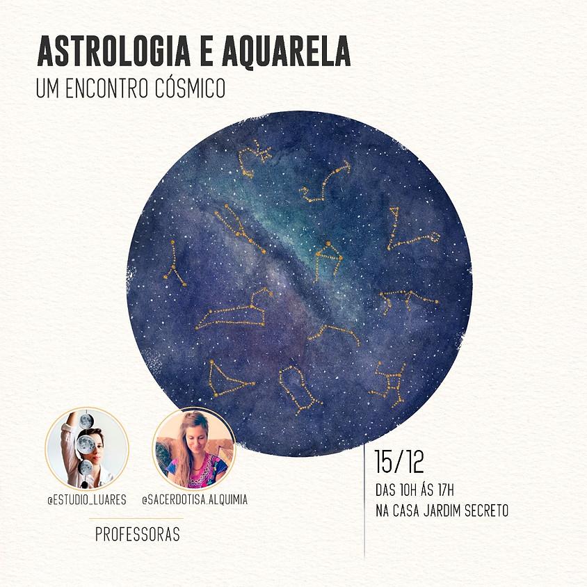 Astrologia e Aquarela: Um Encontro Cósmico
