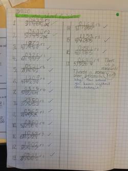 Alex's wonderful maths!