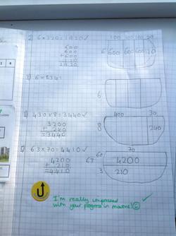 Diana's excellent maths!