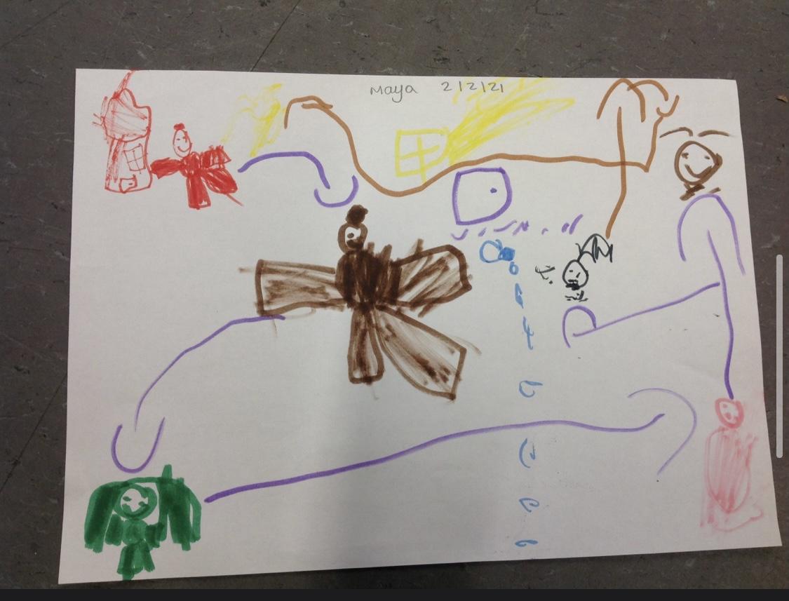 Maya's brilliant story map!