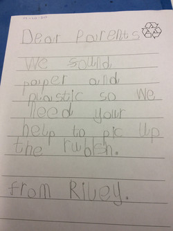 Riley's excellent writing!