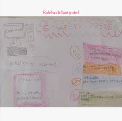 Rishitha's amazing e-safety poster!