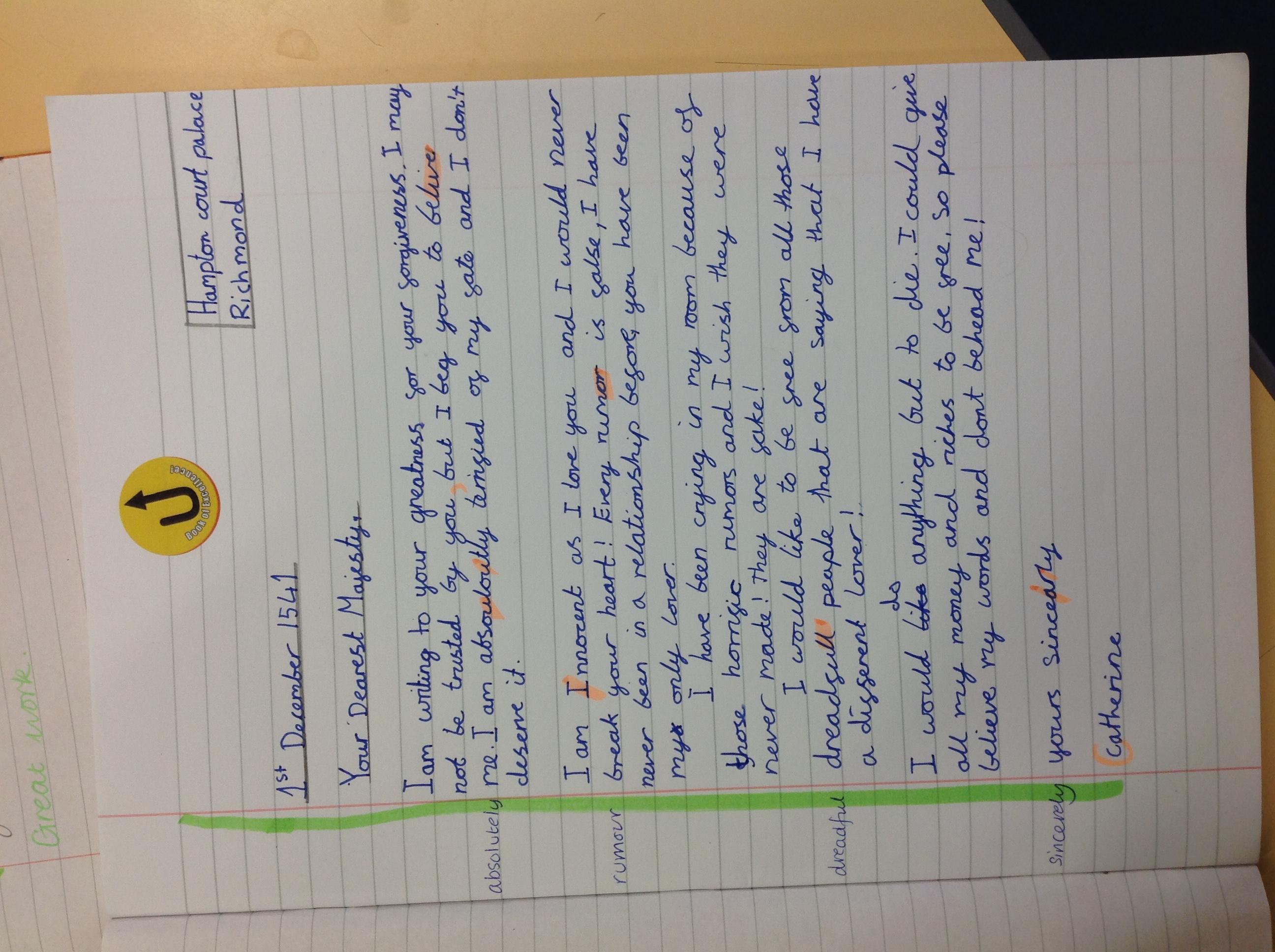 Catherine's wonderful writing!