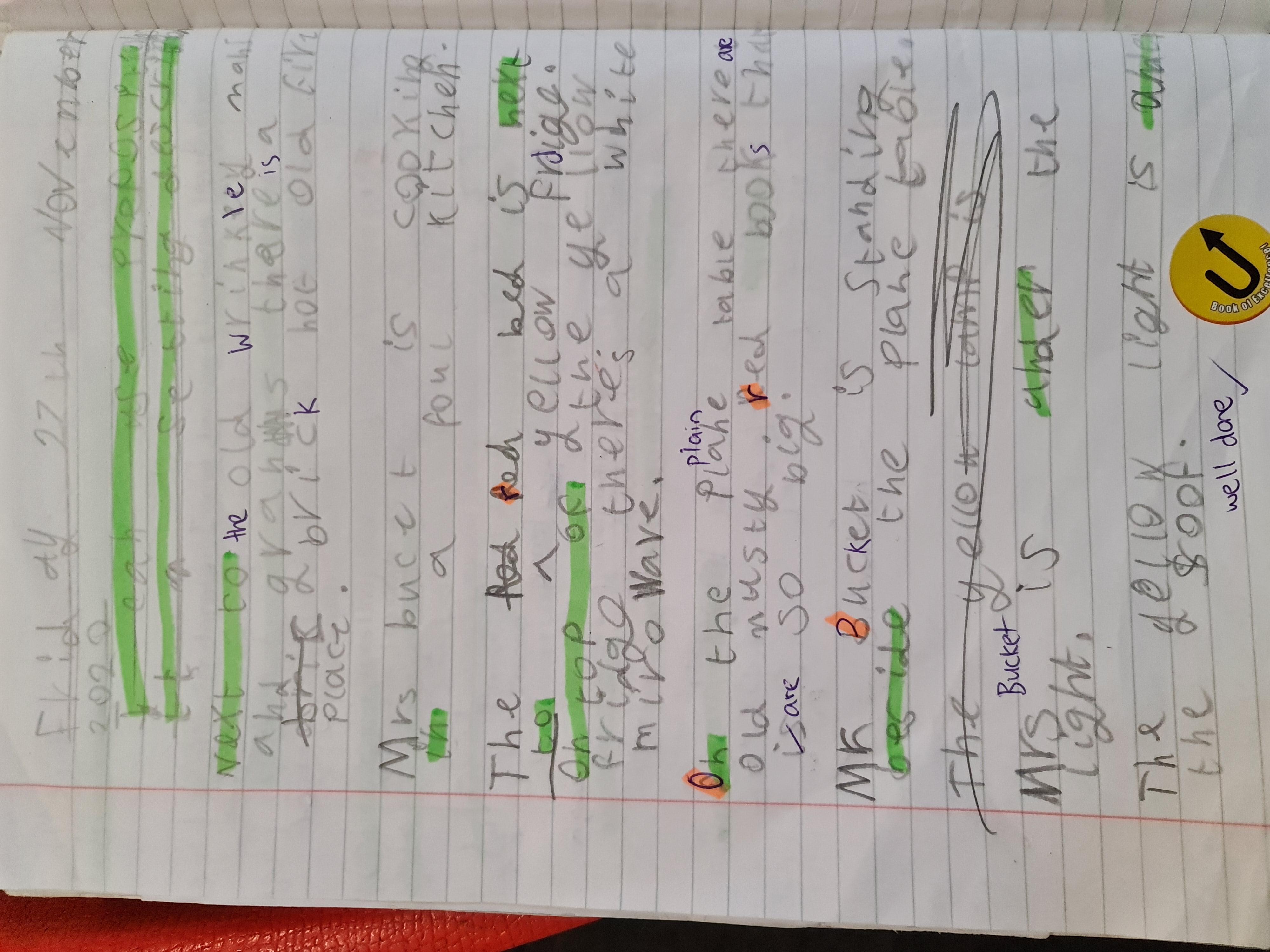 Noah's excellent grammar!