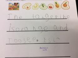 Isla's incredible writing!