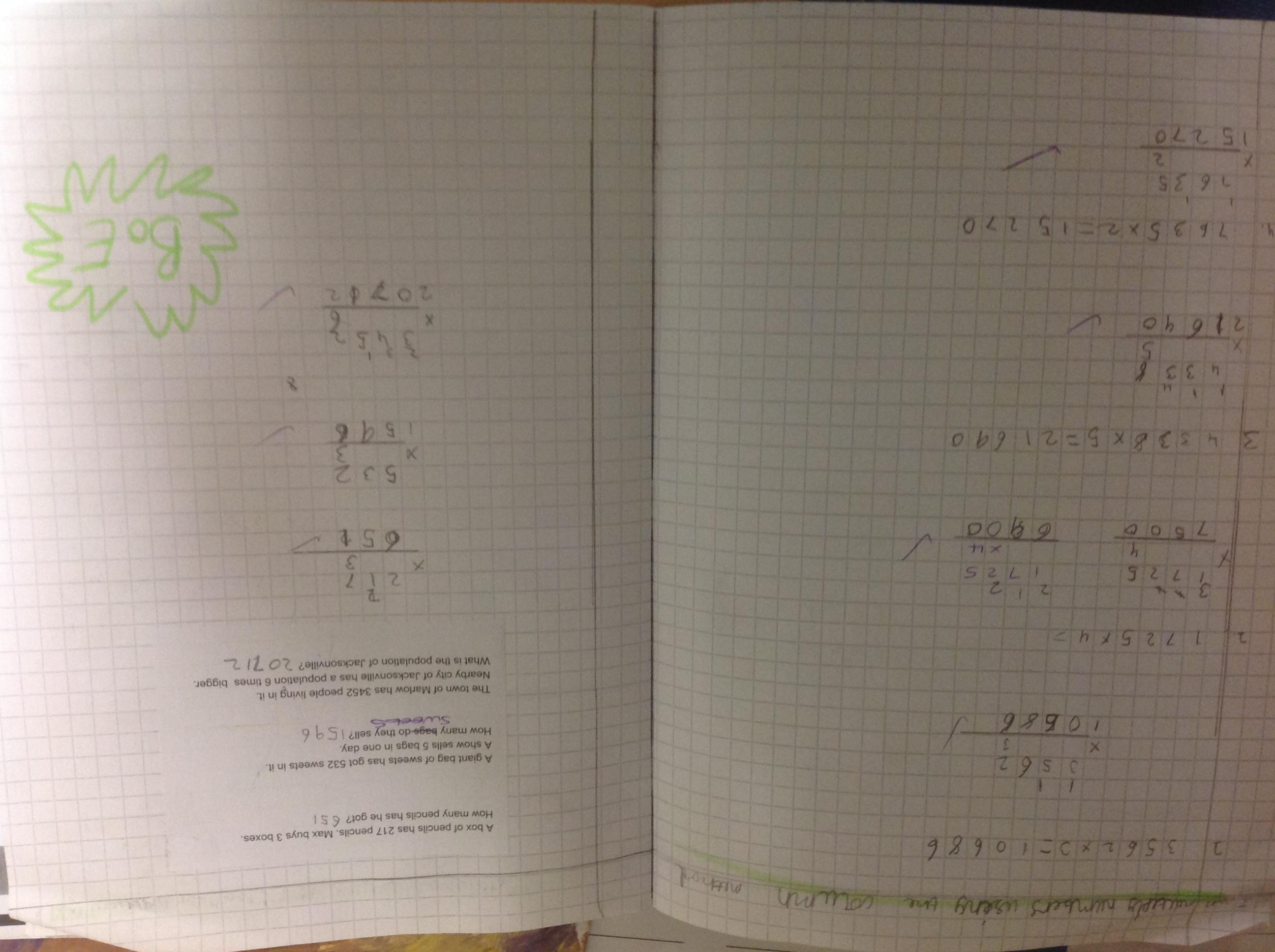 Nathan's amazing maths!