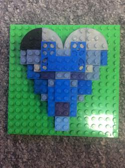 Adam's wonderful NHS blue heart!
