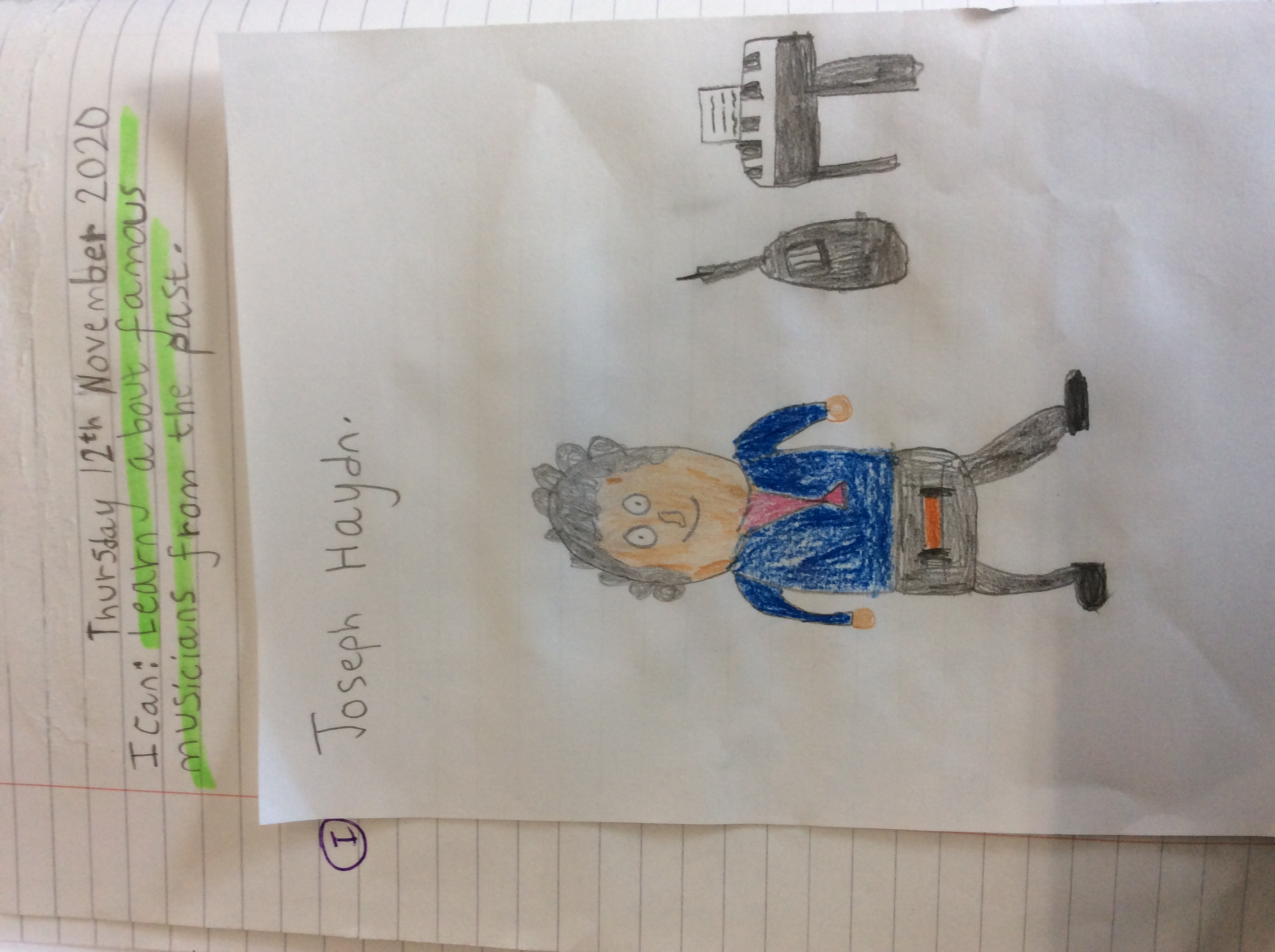 Joshua's fantastic drawing!