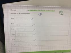 Oscar's brilliant effort in Maths!