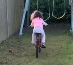 Tilly's brilliant bike riding without st