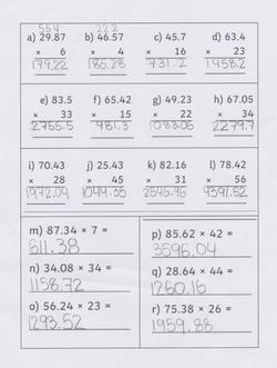 Arwen's fantastic maths!