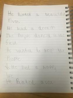 William's brilliant past tense sentences
