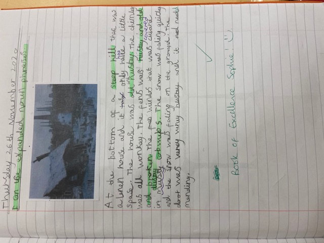 Sophie's amazing writing!