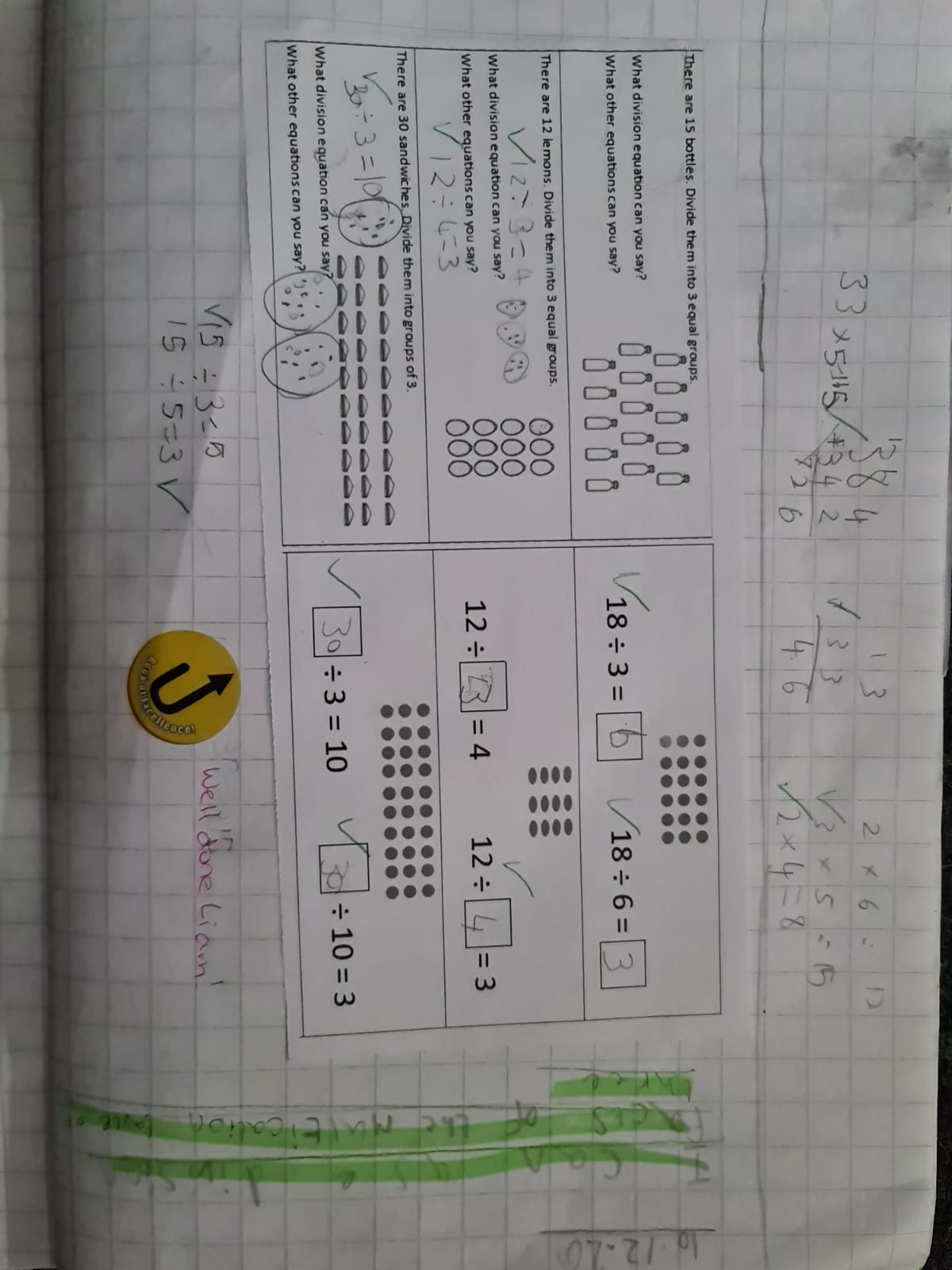 Liam's amazing maths!