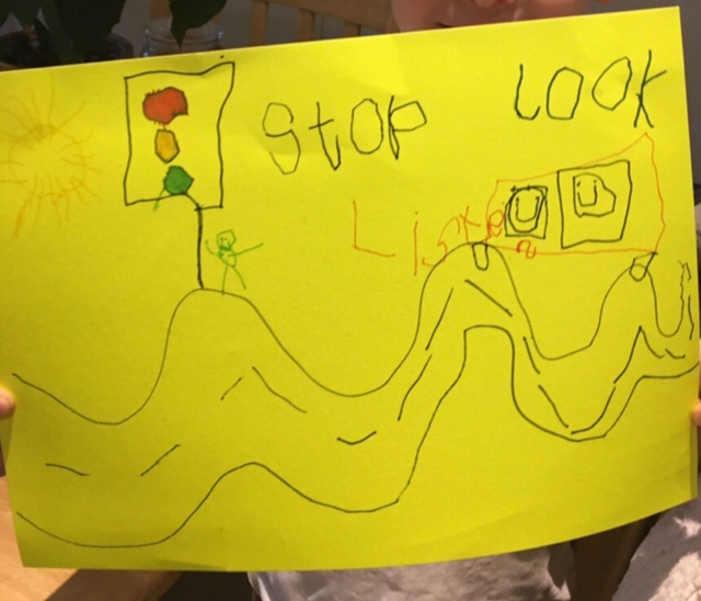 Riley's brilliant road safety poster