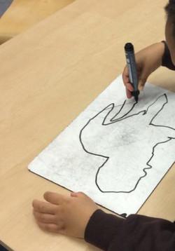 Kiyan's amzing dinosaur drawing and fact