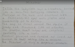 Amber's incredible Minotaur description!