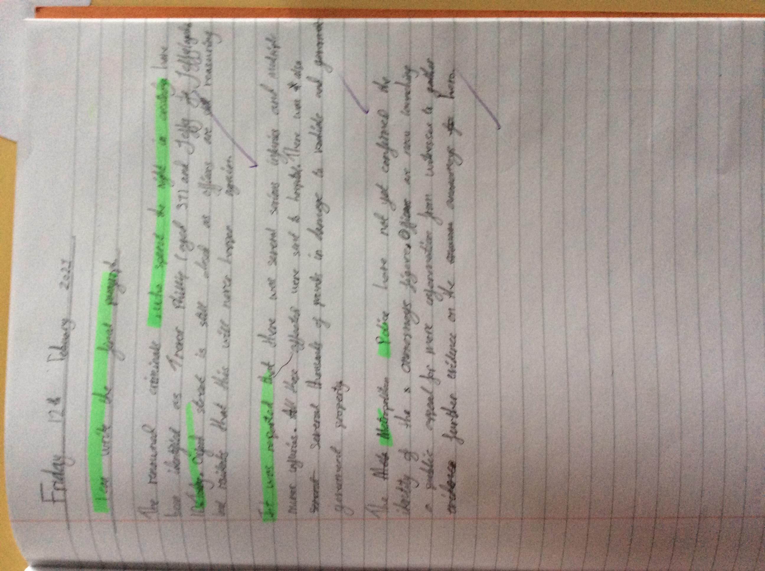 Joseph's wonderful writing!
