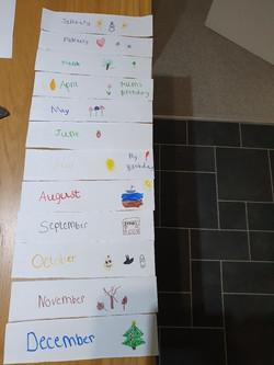 Daniel's wonderful Month labels!
