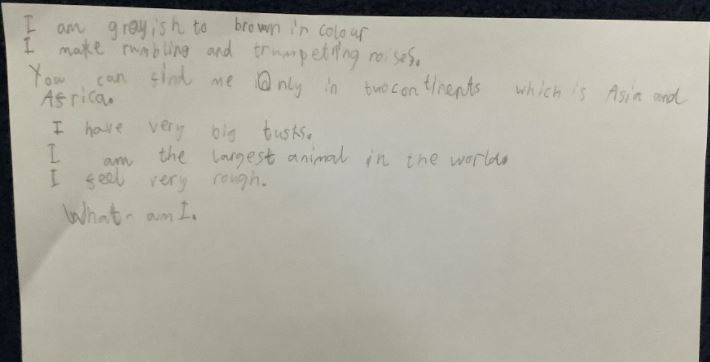 Atharva's excellent writing!