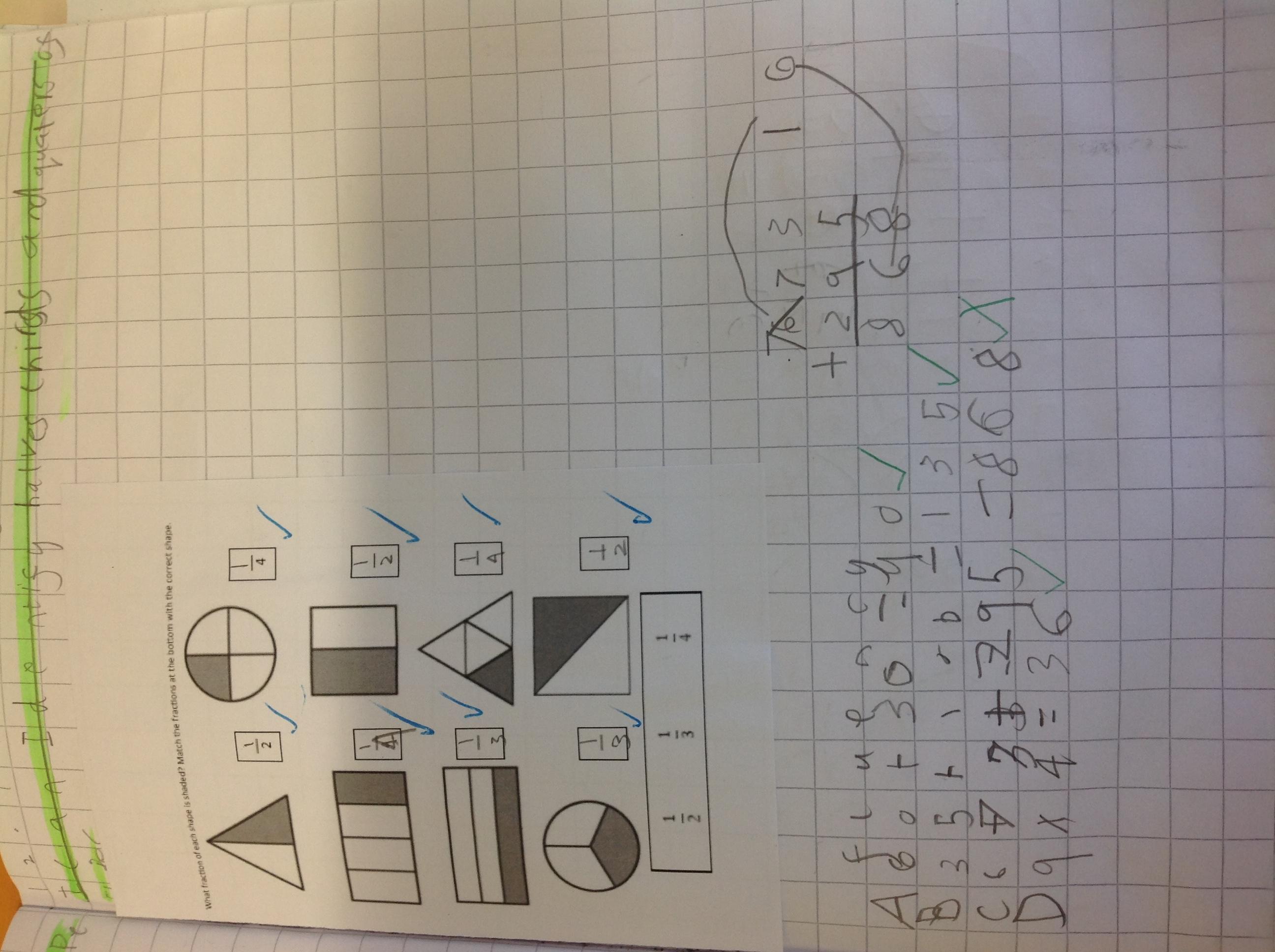 Logan's excellent maths!