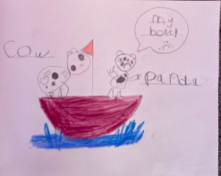Anda's wonderful Leaky Boat picture!