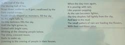 Alisha's wonderful poem!