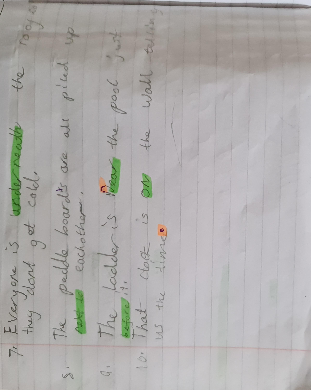 Michaela's excellent grammar!