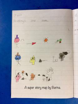 Barina's brilliant story map!