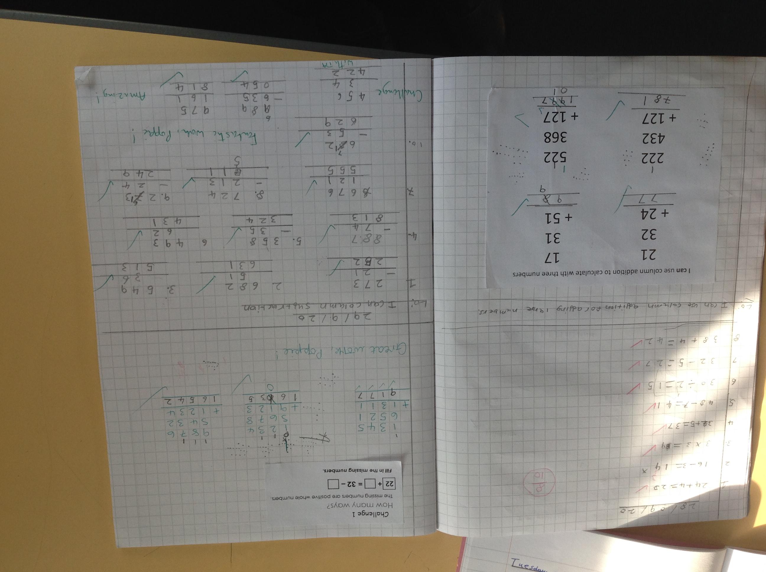 Poppie's impressive Maths!