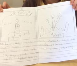 Amy's brilliant progress in handwriting!