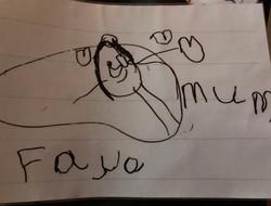Faye's brilliant name writing!