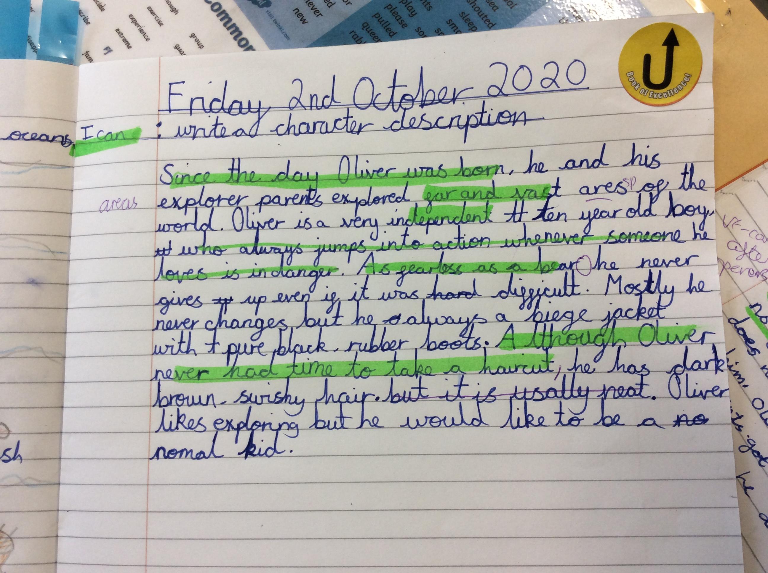 Millie - brilliant writing!