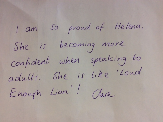 Helena's brilliant confidence!