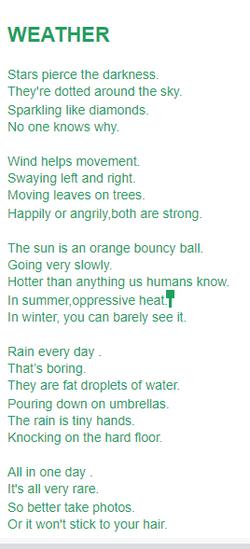 Ludwik's extraordinary Weather Poem!