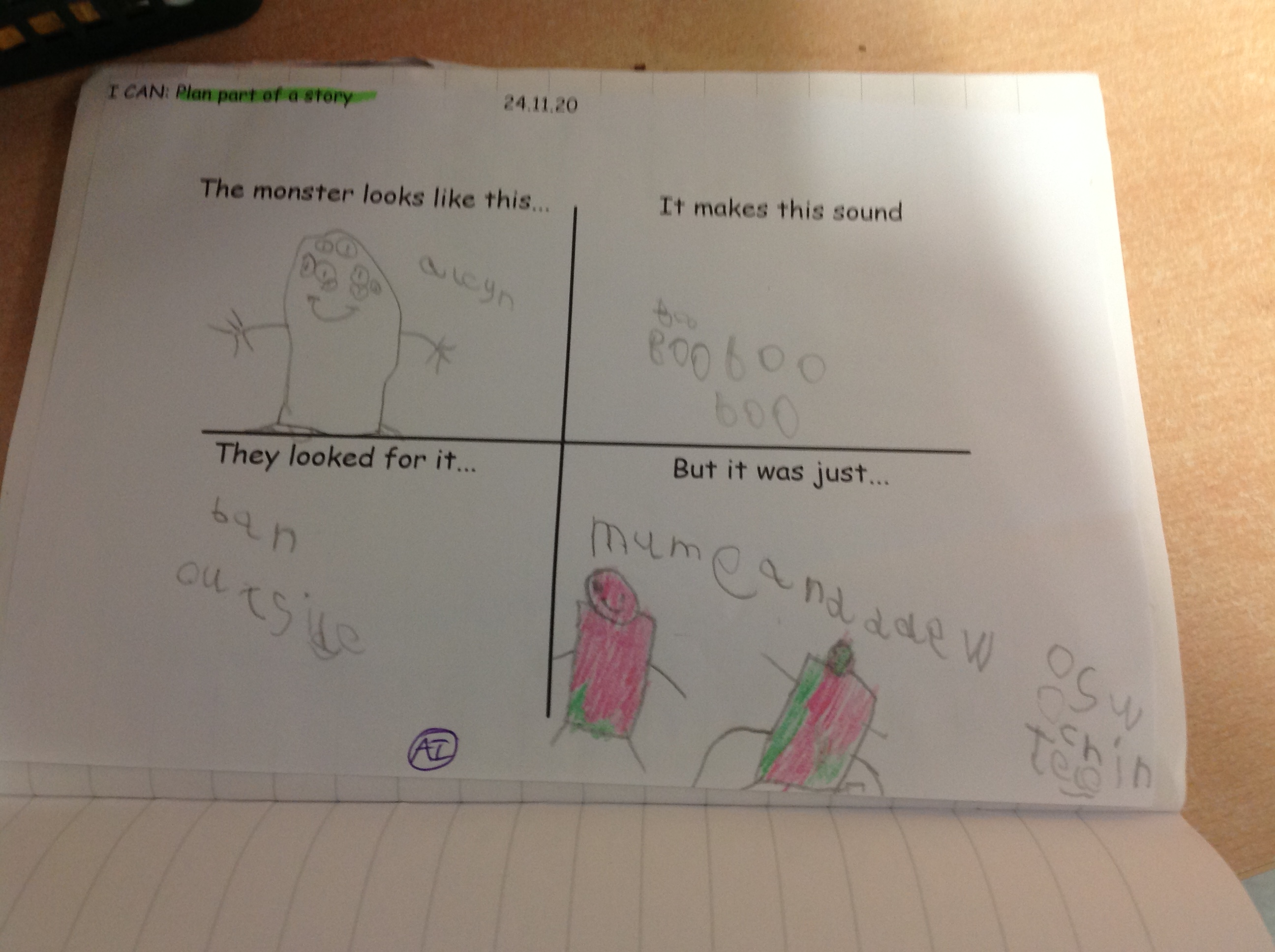 Tyler's excellent story plan!