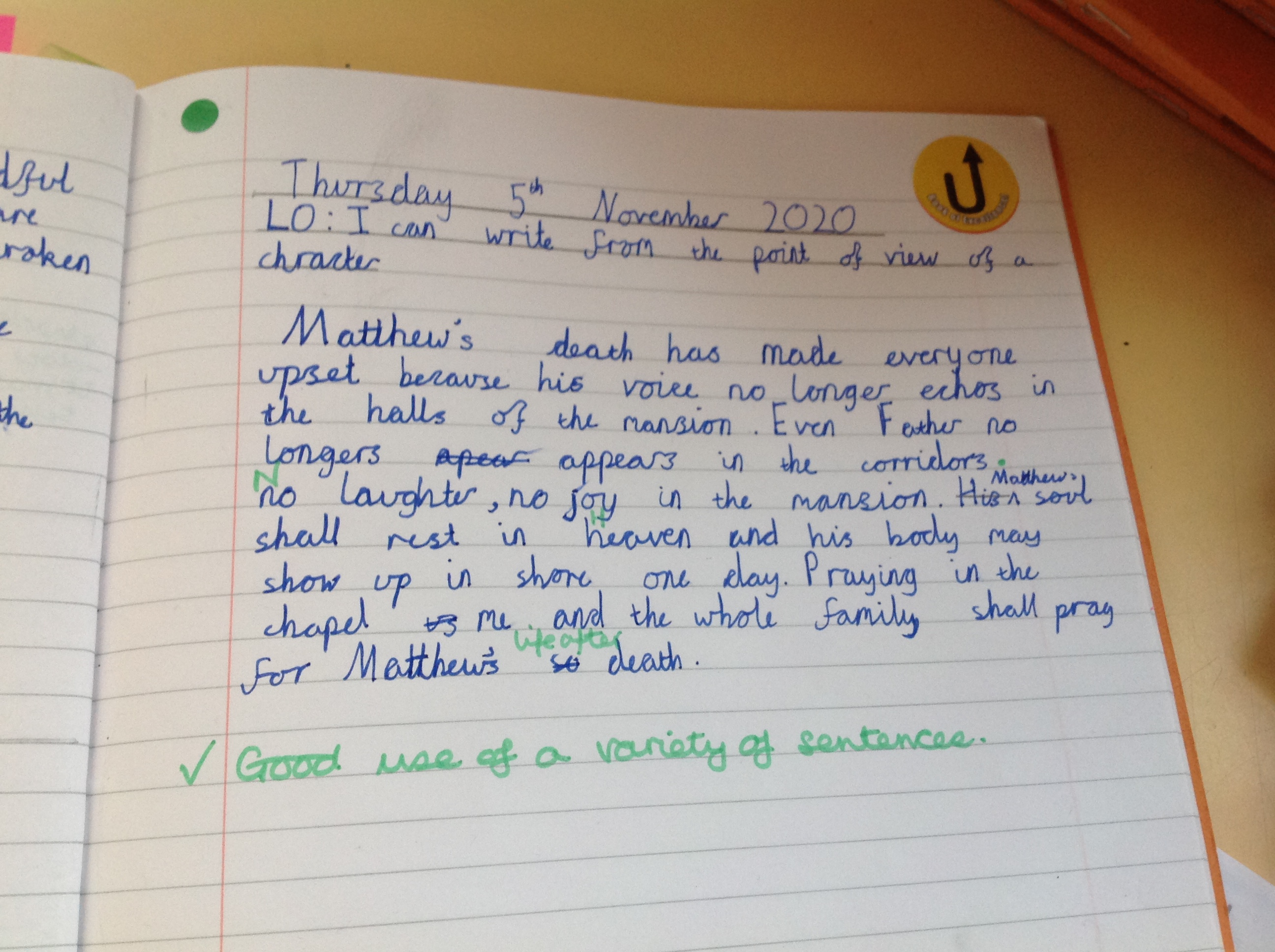 Max's fantastic writing!