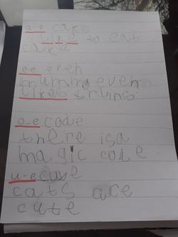 Reggie's incredible writing!