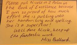 Well done Nicole!